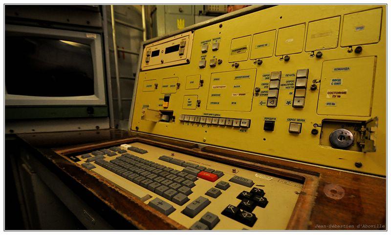Base nucléaire Soviétique de Pervomaysk en Ukraine - La console de tir des missiles