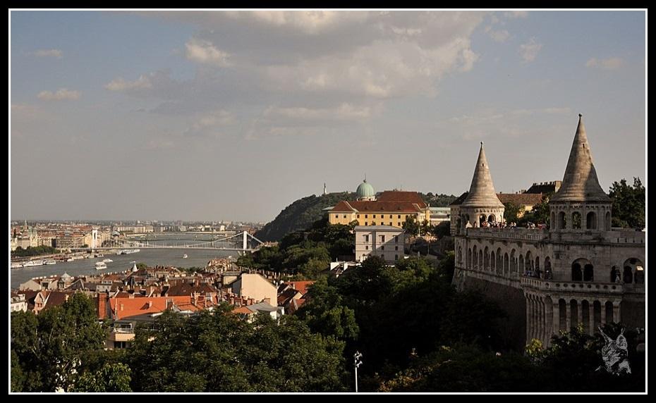 Budapest - Le chateau de Buda, le Bastion des pêcheurs et le Danube