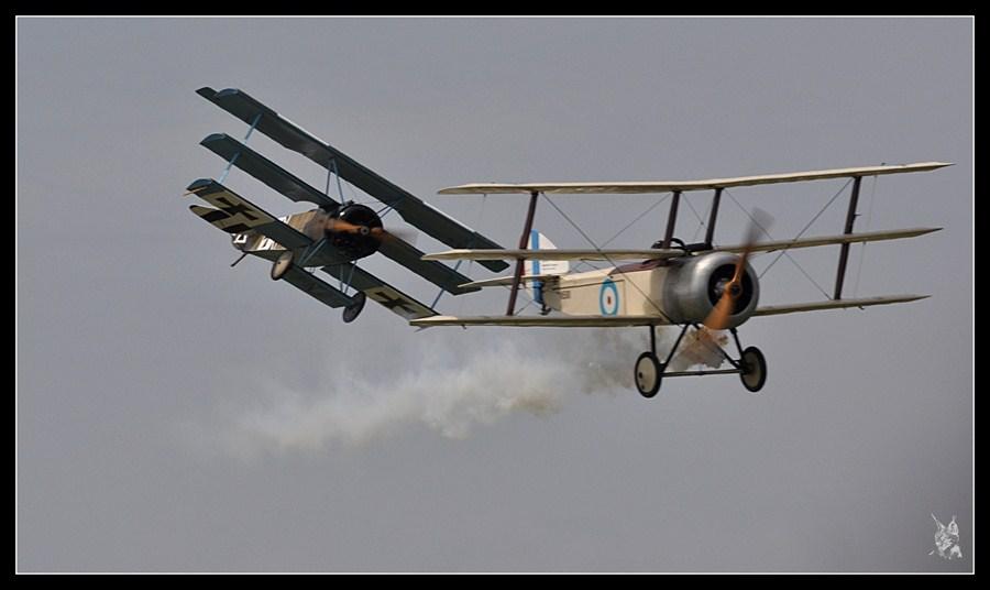 Meeting la Ferté Alais 2012, le temps des hélices - Combat aérien - Fokker Dr1