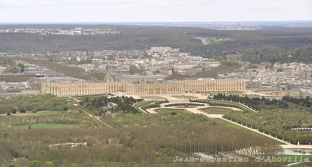 Photo aérienne du Chateau de Versailles