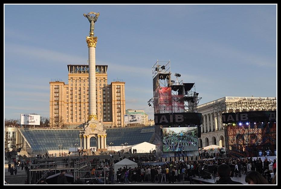 Kiev - La place de l'Indépendance (Maidan) en 2011