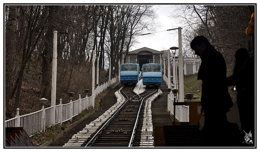 Kiev - Ukraine. Le funiculaire de Podil