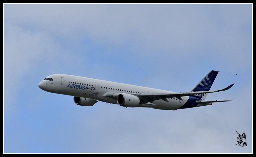 Salon du Bourget Paris Airshow 2013 - Airbus A350 XWB en vol