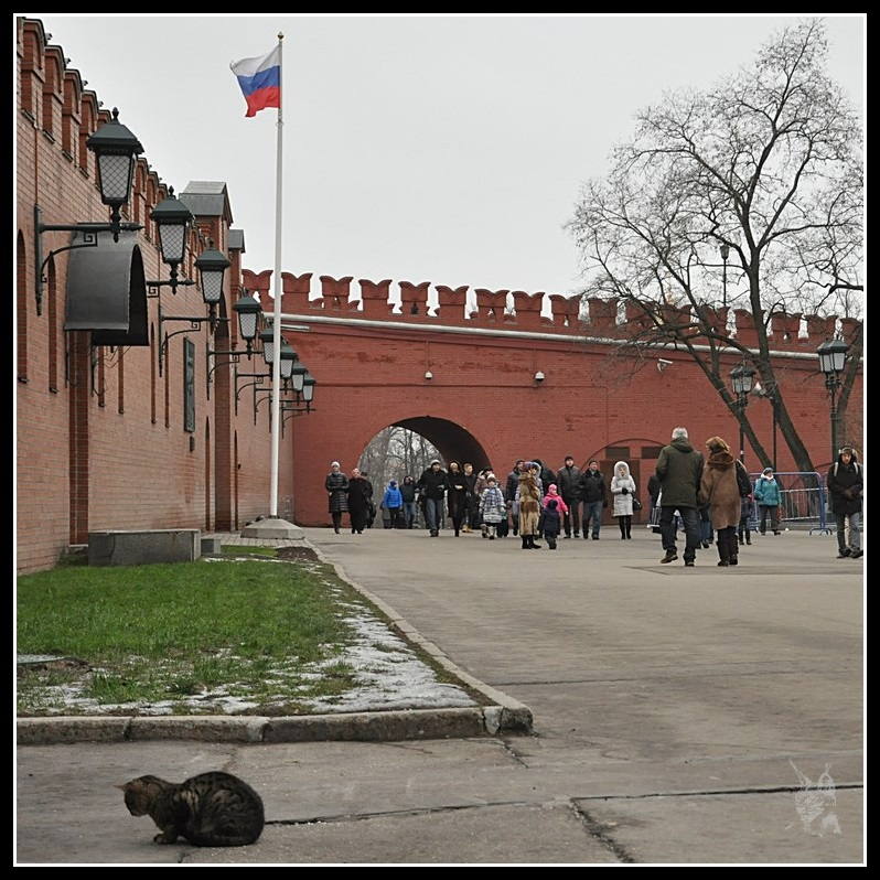 Le Kremlin de Moscou - Au pied des murs...