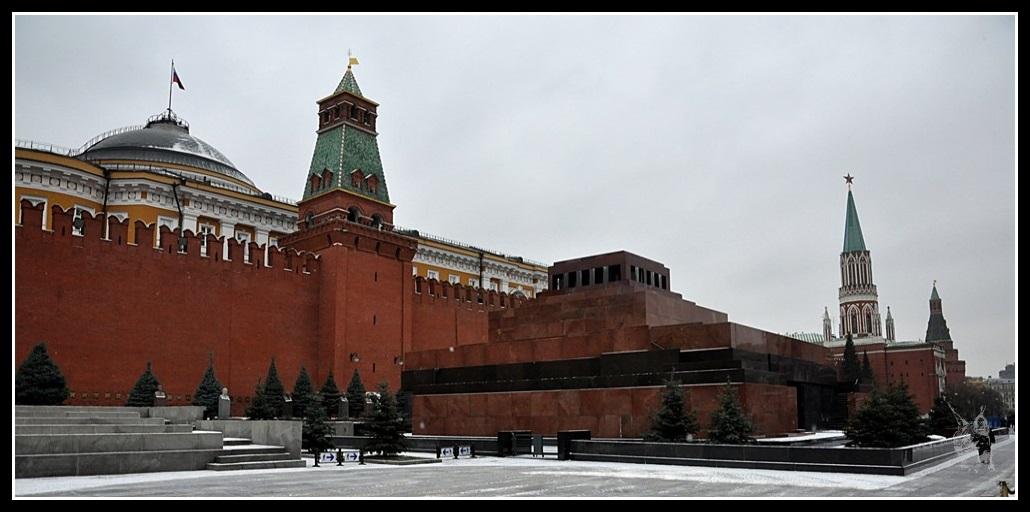 Moscou - Place rouge, Le Mausolée de Lénine
