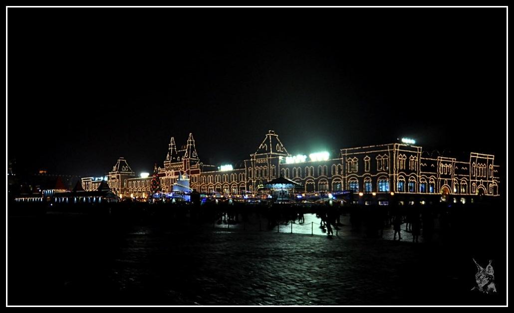 Moscou - Le Goum et la Place Rouge de nuit