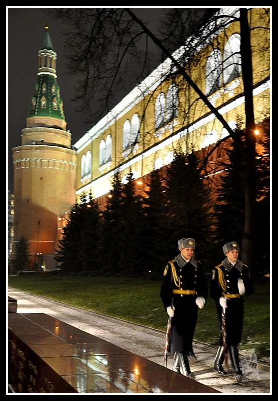 Moscou La relêve de la Garde au Kremlin