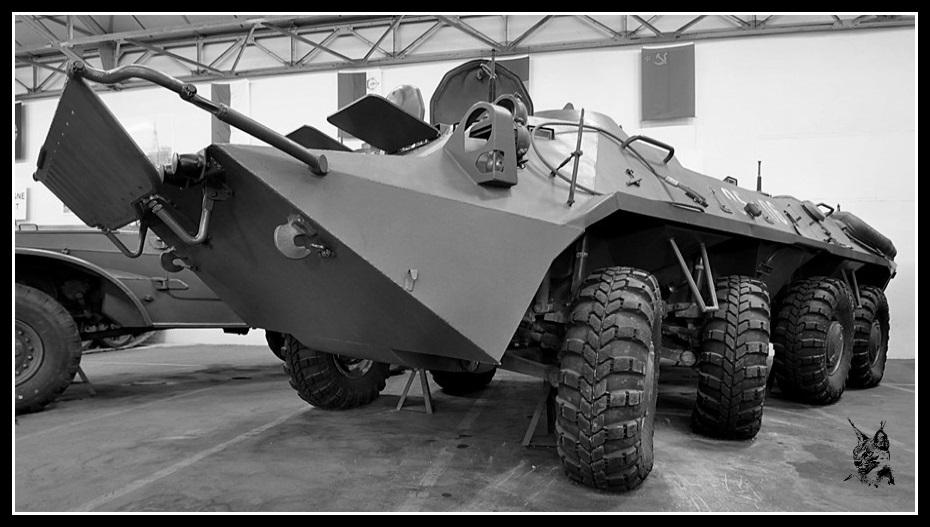 Musée des blindés de Saumur - Véhicule de transport de troupes soviétique BTR-70