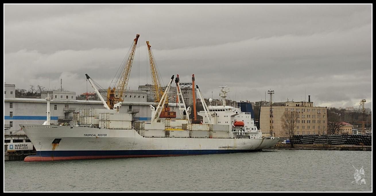 Ukraine - Odessa, un cargo dans le port