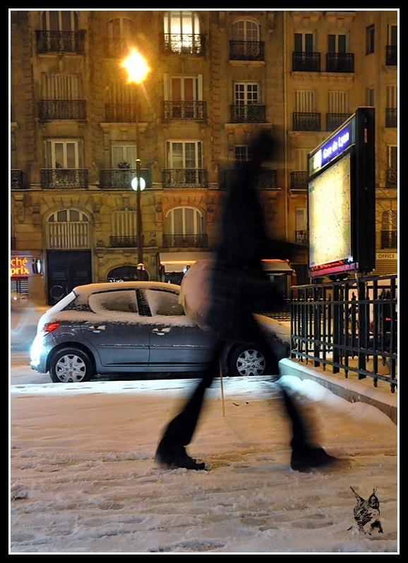 neige à paris le 12 mars 2013