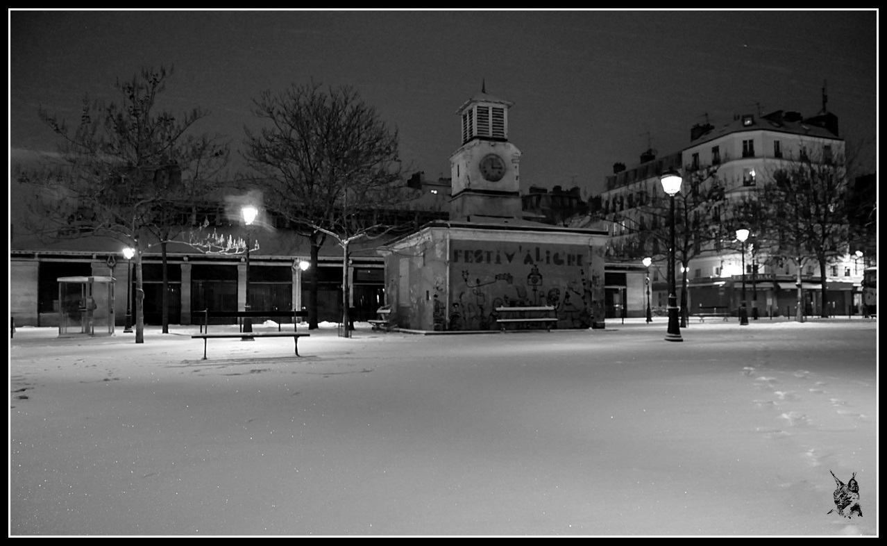 Paris sous la neige le 12 mars 2013