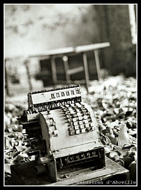 Caisse enregistreuse, ville fantôme de Pripiat, Tchernobyl